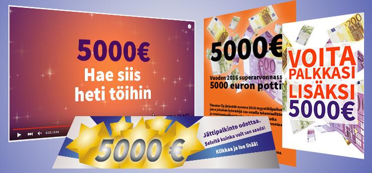 5000 euroa kampanja