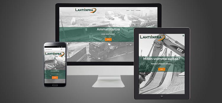 Lahti-Infra www-sivut yritysilme