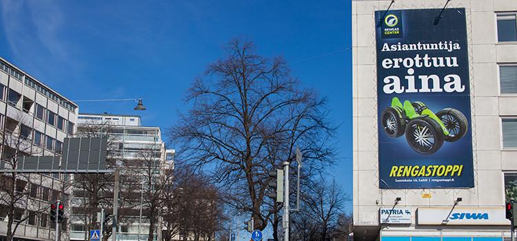 Mainoslakana Lahti